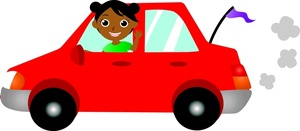 Vehicle clipart drive a Car Image Car a Girl