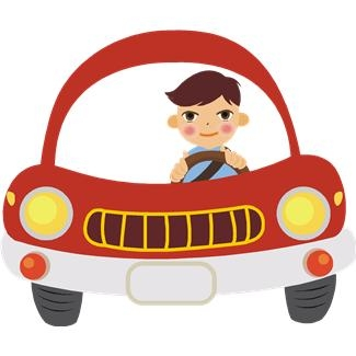 Vehicle clipart drive a Clipart Man Driving Car driving