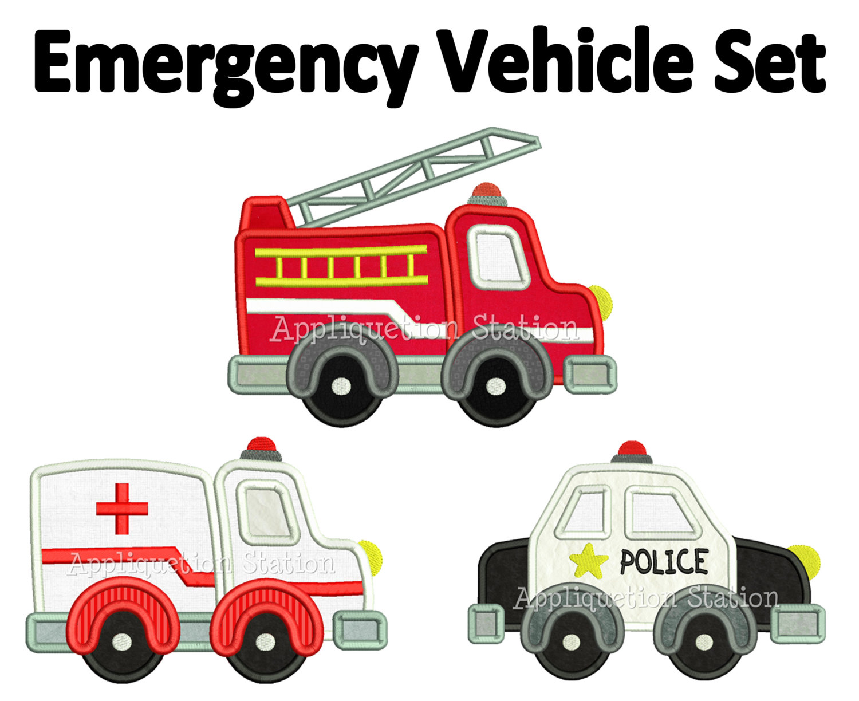 Emergency clipart police car Truck Etsy engine Design Ambulance