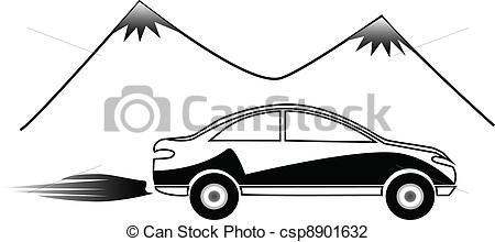 Vehicle clipart fast car Vector silhouette fast car fast