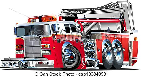 Fire Truck clipart logo Fire Cartoon Clipart Available Vector