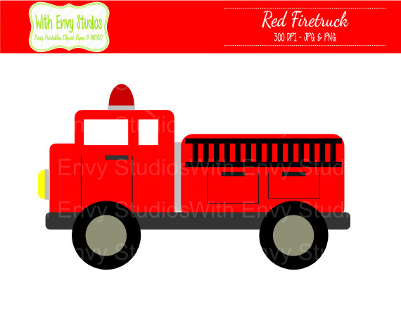 Fire Truck clipart simple Kitchen firetruck Cliparting fire clipartix