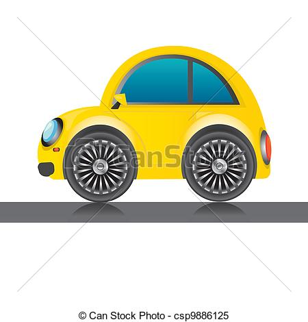 Yellow clipart toy car Yellow icon Clipart icon glossy