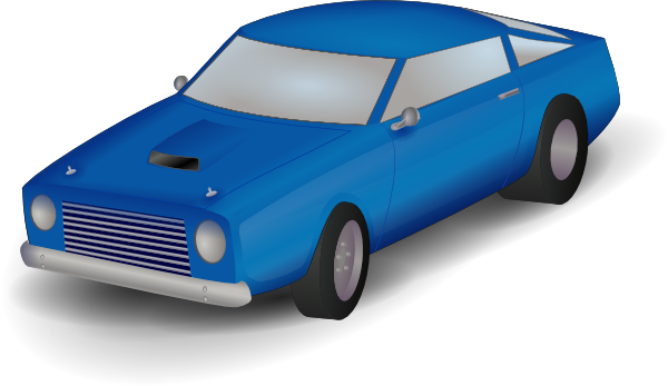 Blue Car clipart side view png Free Cars clipart toy images