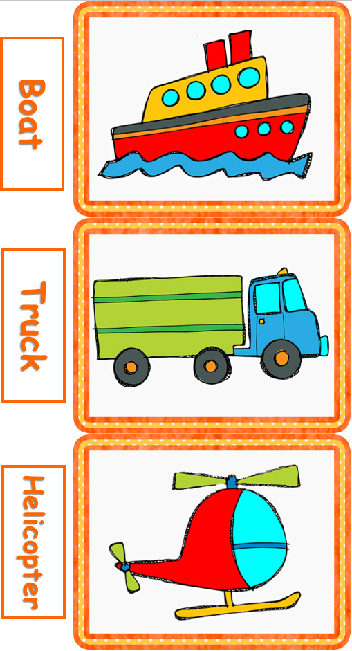 Vehicle clipart means transport My of for lessons flashcards