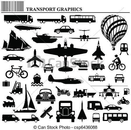 Vehicle clipart mode transport  of transportation collection transportation