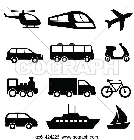 Vehicle clipart mode transport Illustration transportation black EPS gg61424226