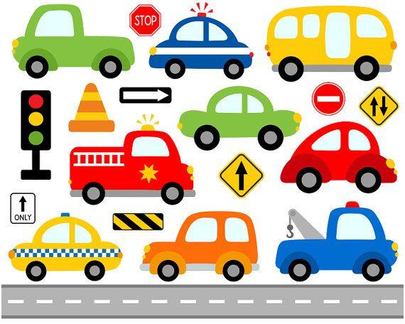 Blue Car clipart free transportation Clip School Signs Transportation Road