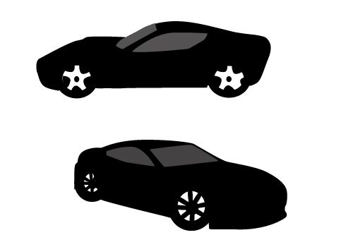 Race Car clipart silhouette Coming car Silhouette a sports