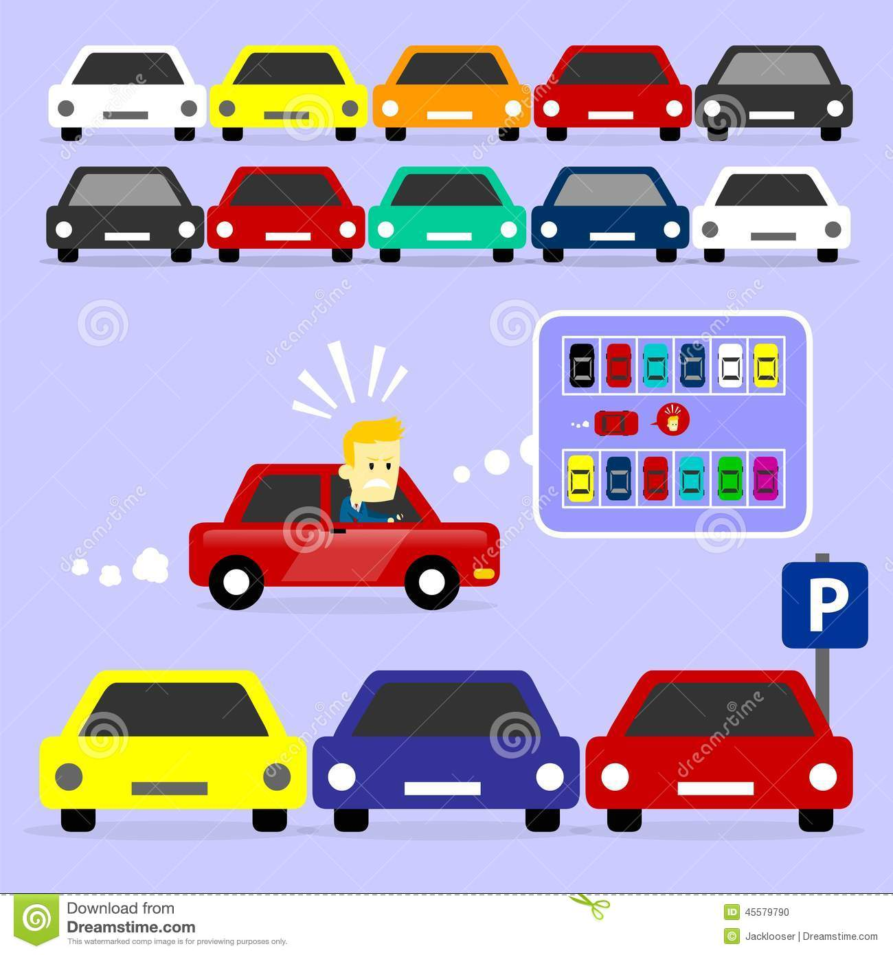 Traffic clipart parking lot #2