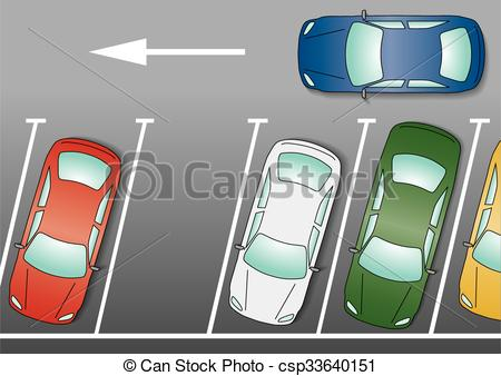 Traffic clipart parking space 1 blue an Vector of