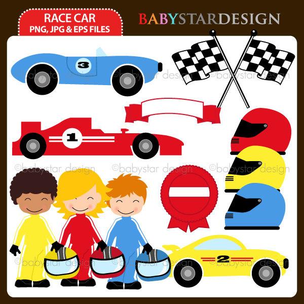 Hot Wheels clipart motor racing Birthday Set Clipart Etsy Set