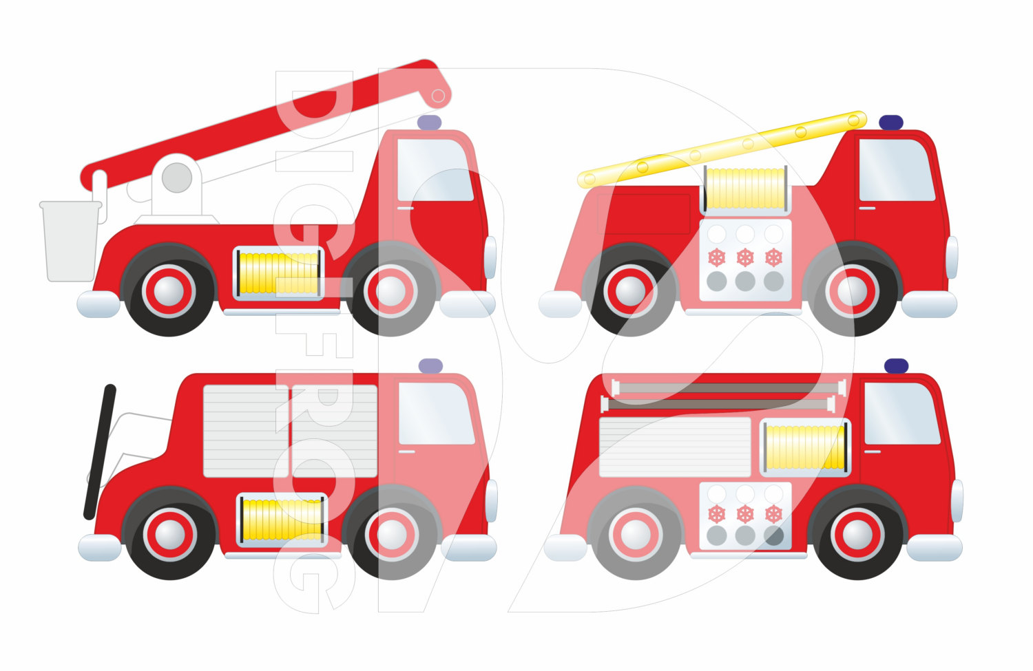 Fire Truck clipart printable #7