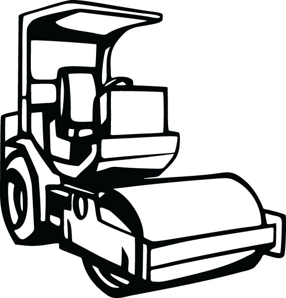 Vehicle clipart roller Construction (3954) Equipment Clip Graphic