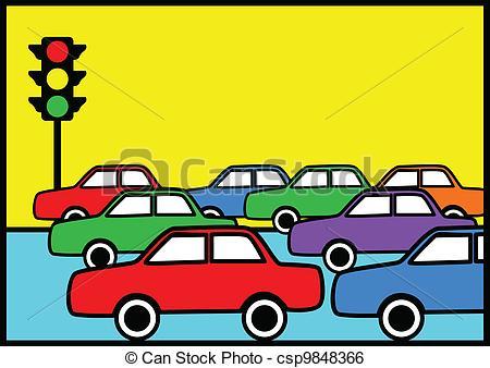 Traffic clipart traffic car Of Clip illustration Jam traffic