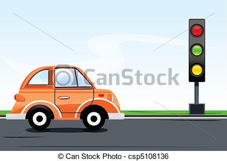 Traffic clipart traffic car Signal on with traffic Art