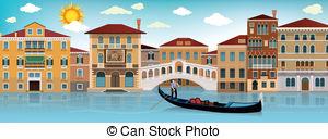 Venice clipart (street Venice In on vector