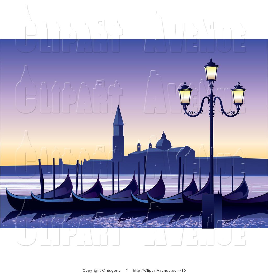 Gondola clipart canal Clip Venice Art Clip Clipart
