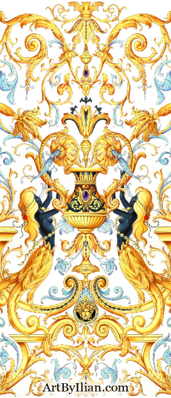 Versace clipart versace home ILIAN GALLERY Baroque Inspired King
