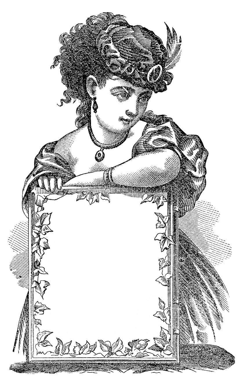 Victorian clipart Lady Clip Antique Art