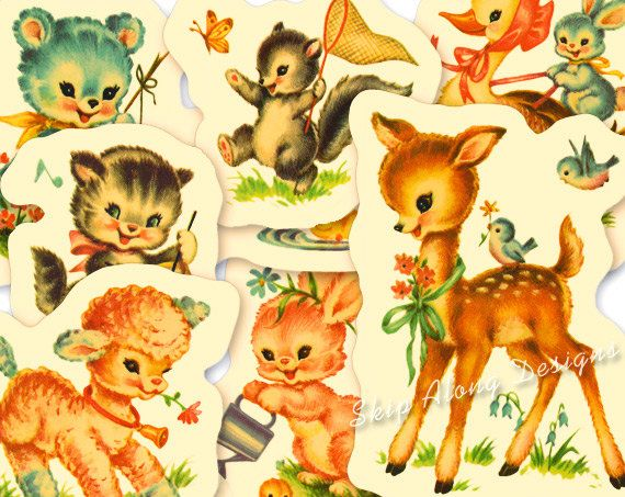 Baby Animal clipart vintage Tickle Clipart Vintage Baby Clipart
