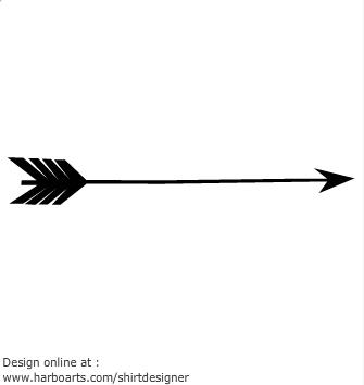 Arrow clipart victorian Black Arrow clipart Arrows feathers