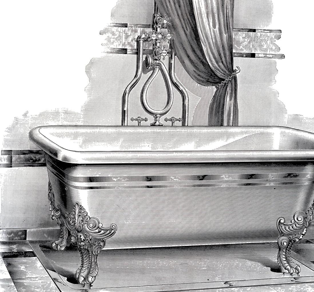 Bathtub clipart vintage The Picture Bathtub Printable Antique
