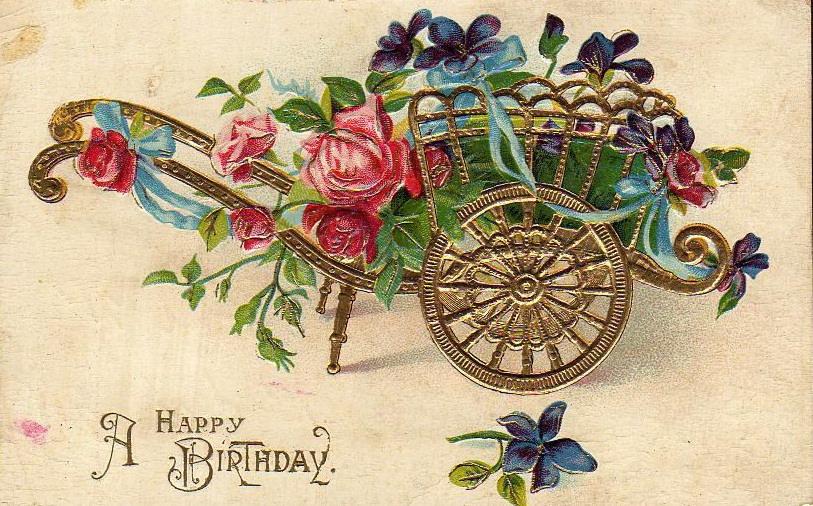 Vintage Flower clipart vintage birthday #1