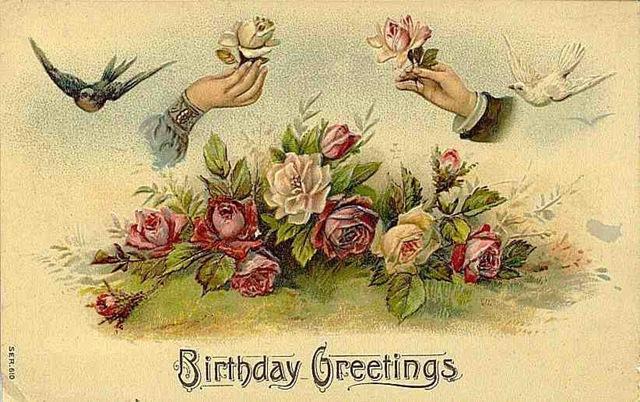 Vintage Flower clipart vintage birthday #4