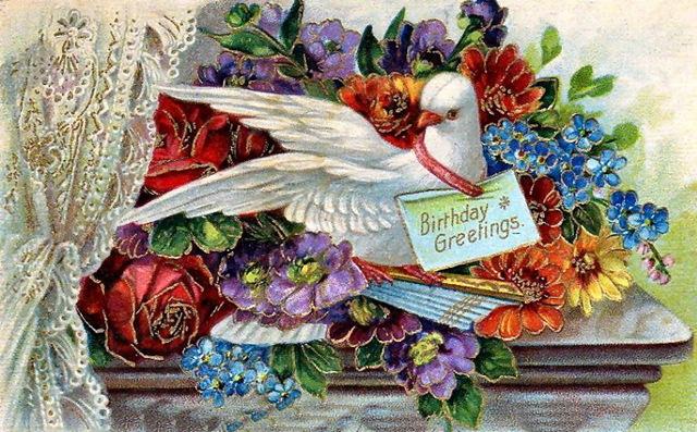 Vintage Flower clipart vintage birthday #3