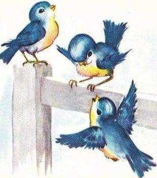 Pidgeons clipart blue bird I at Pinterest vintage ♫