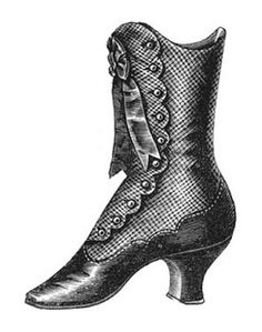 Boots clipart victorian Printable Up Lace Boot Victorian
