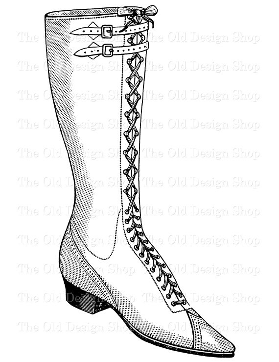 Boots clipart victorian Download Printable Ladies Up Vintage