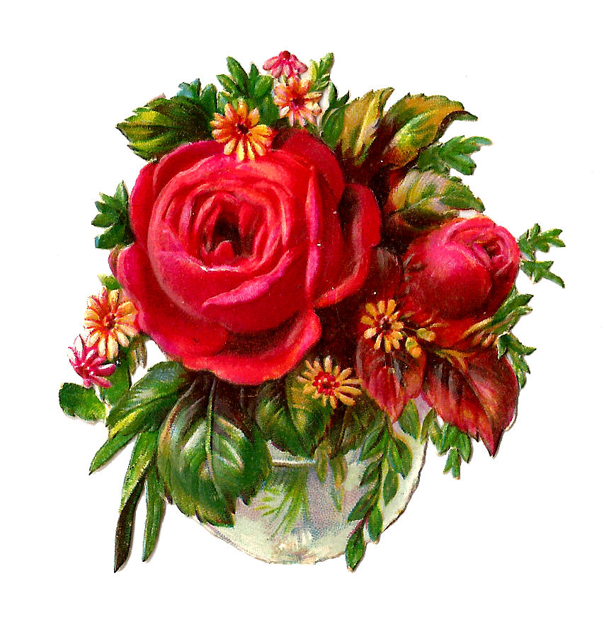 Vintage Flower clipart flower bunch FreeFlower  Clip+Art+of+Flower+Bouquets Rose Clip