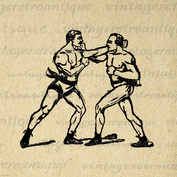 Boxer clipart boxing bag Chicken Boxer Dead Clipart Vintage