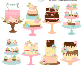 Wedding Cake clipart vintage cake Etsy with Clipart cakes Flower