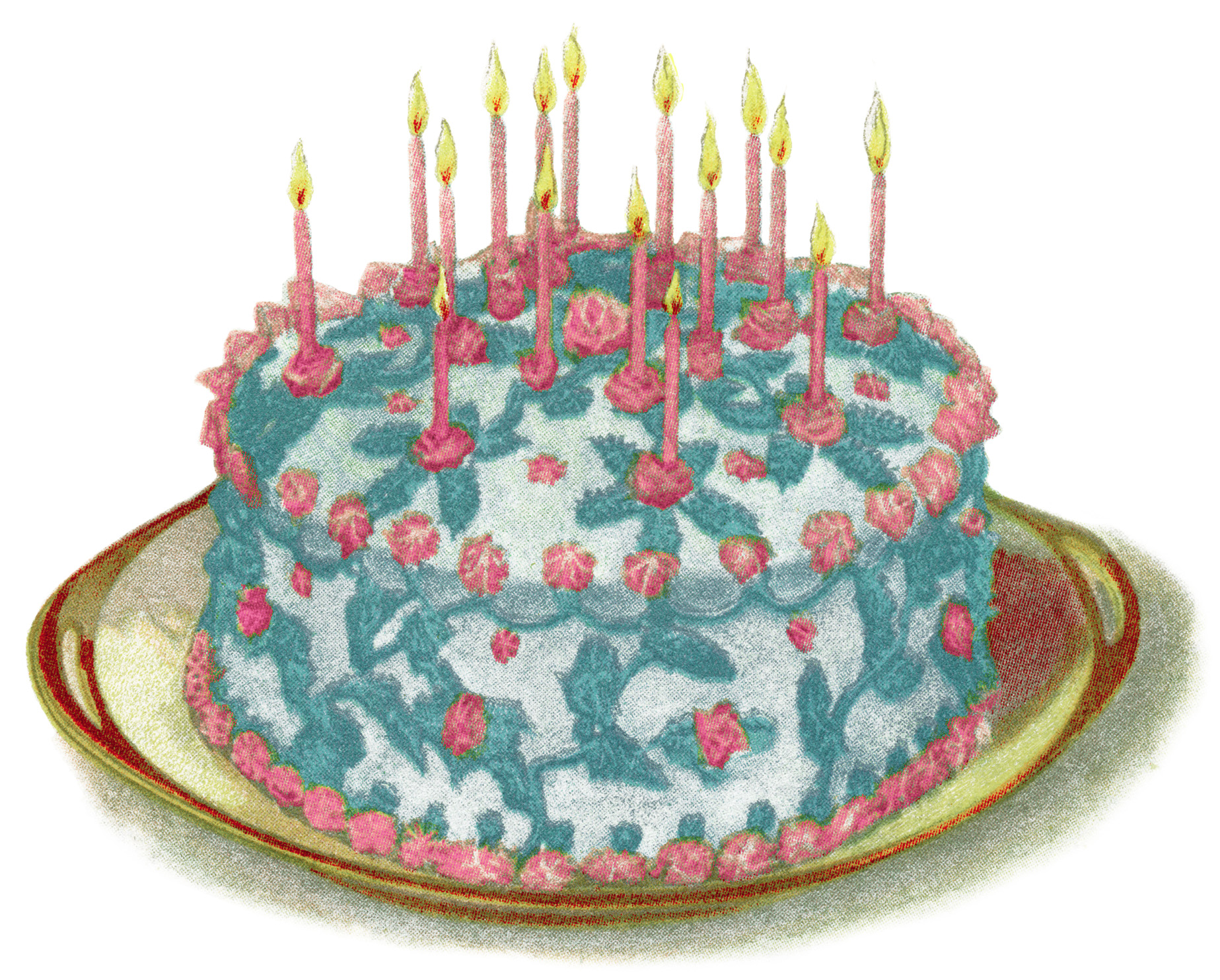 Victorian clipart cake Lovely blue This illustration a