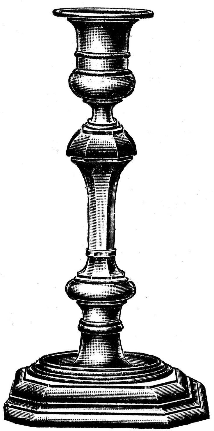 Victorian clipart candlestick Find art best Pin Vintage