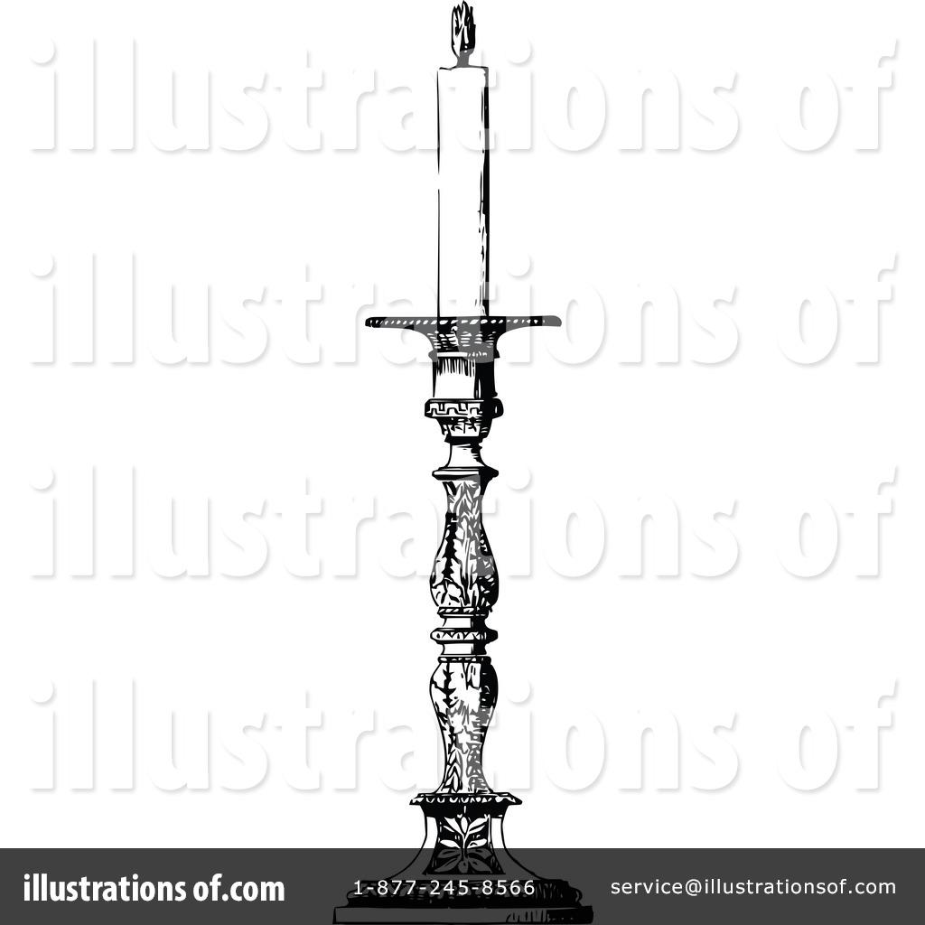 Victorian clipart candlestick Vintage Illustration Candle — Vintage