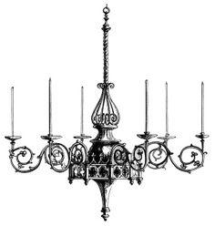 Victorian clipart candlestick Victorian clip stand ~ Art