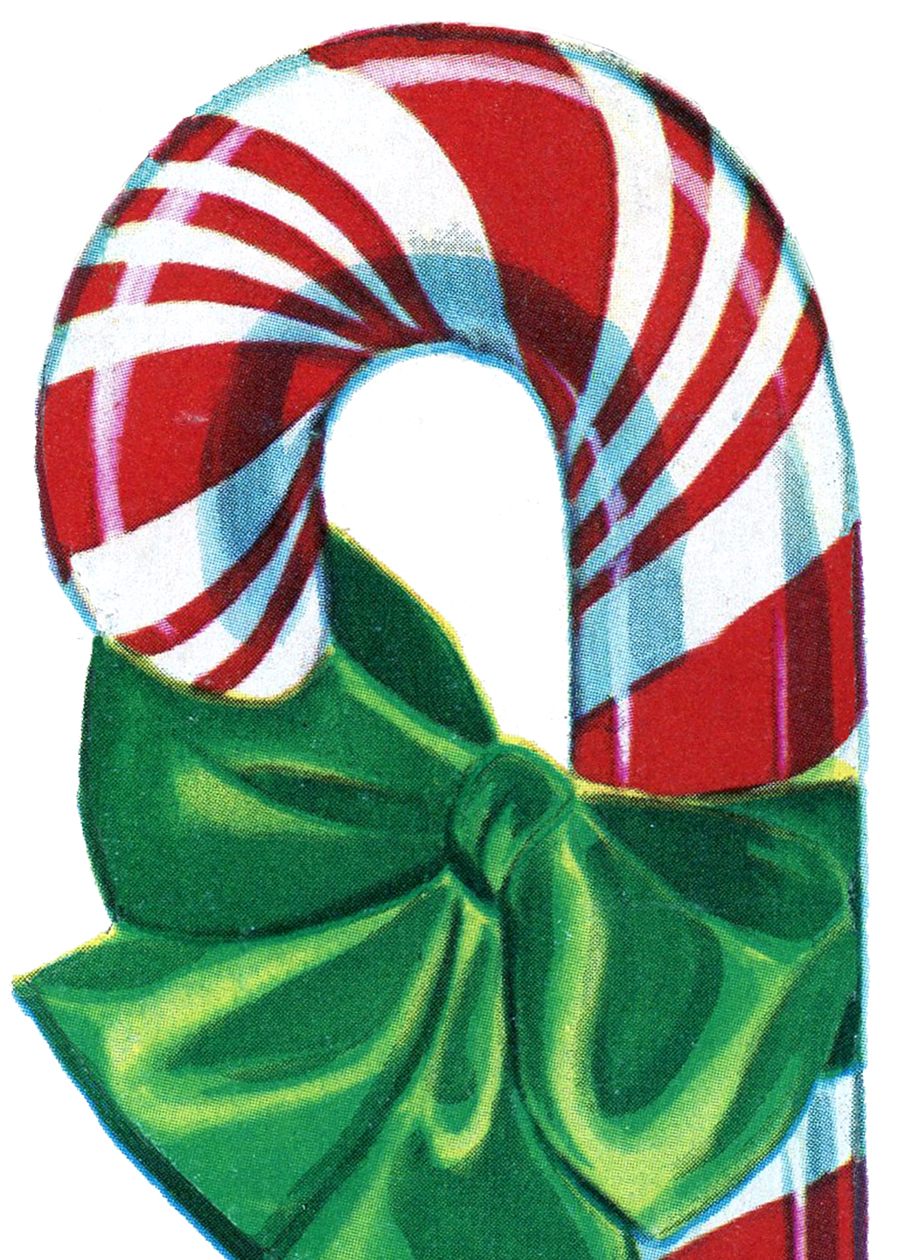 Candy Cane clipart vintage Christmas Free Clip Graphics