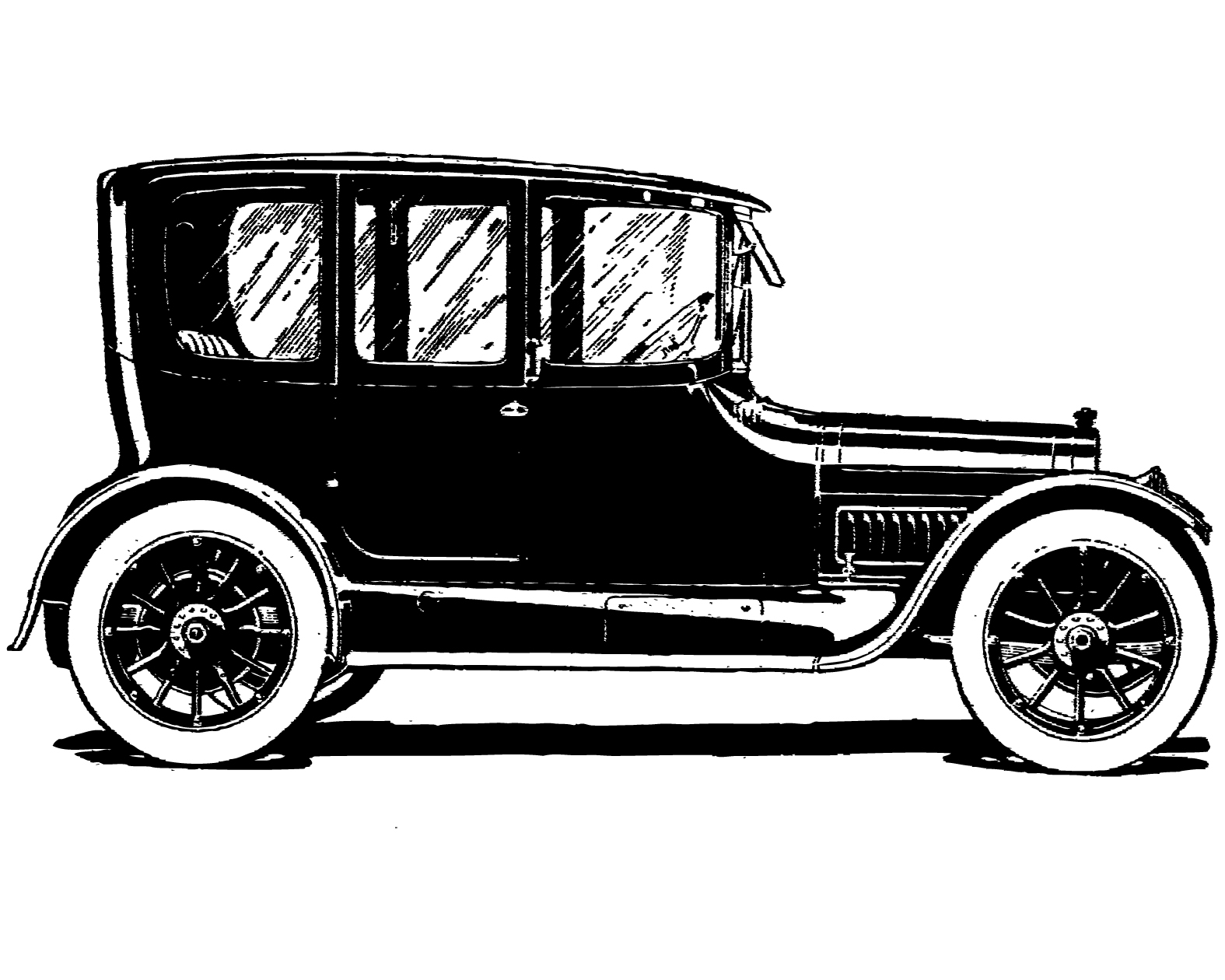 Classical clipart old fashioned car Clip vintage clipart silhouette Free