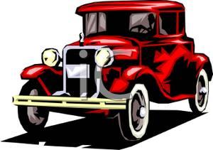 Classic clipart antique car #1
