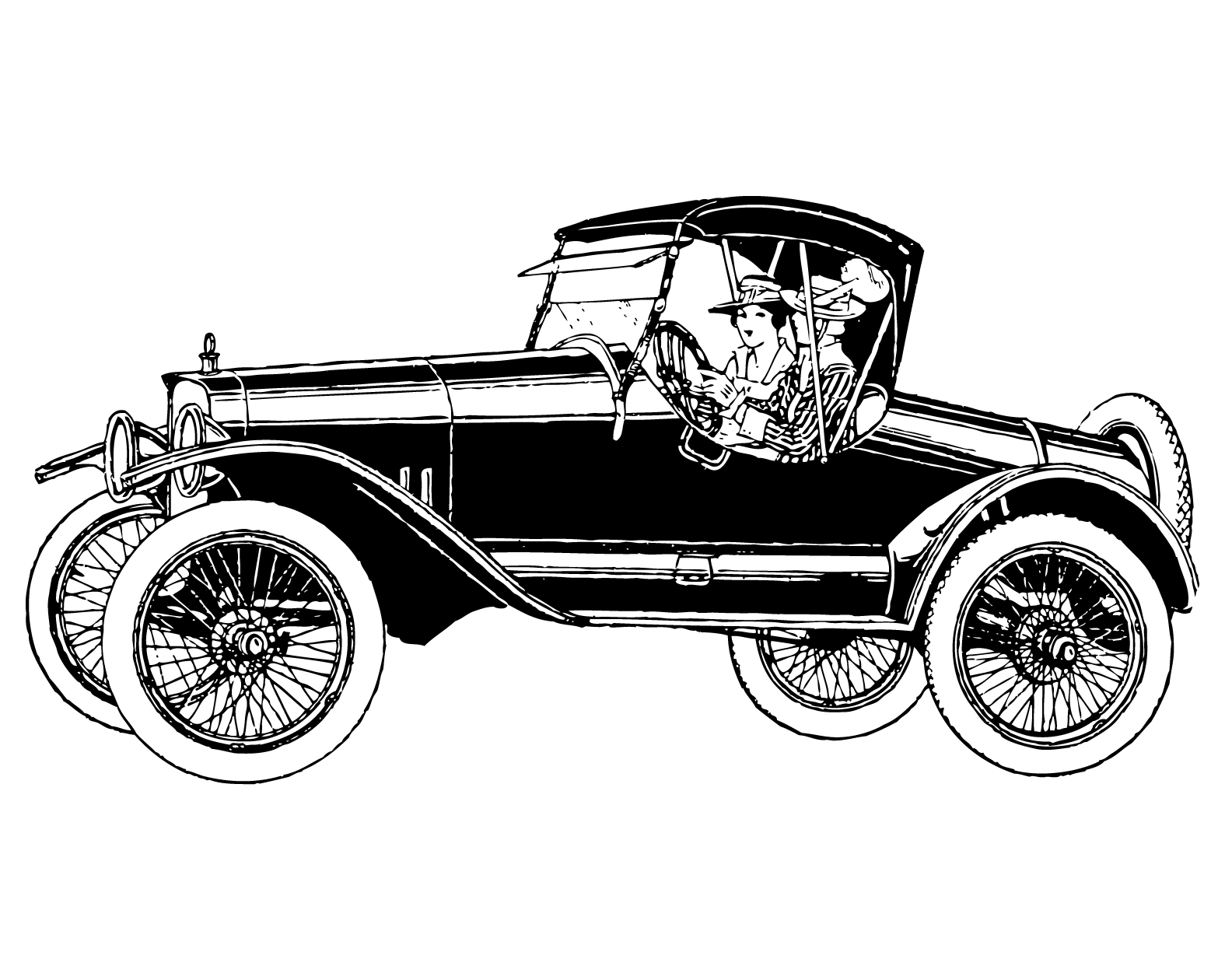 Classical clipart old fashioned car Scissors art Vintage on clip