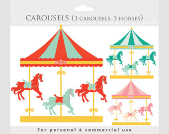 Carneval clipart carnival ride Circus clip Etsy go merry