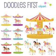 Carousel clipart pastel Clipart Buscar Set Google and