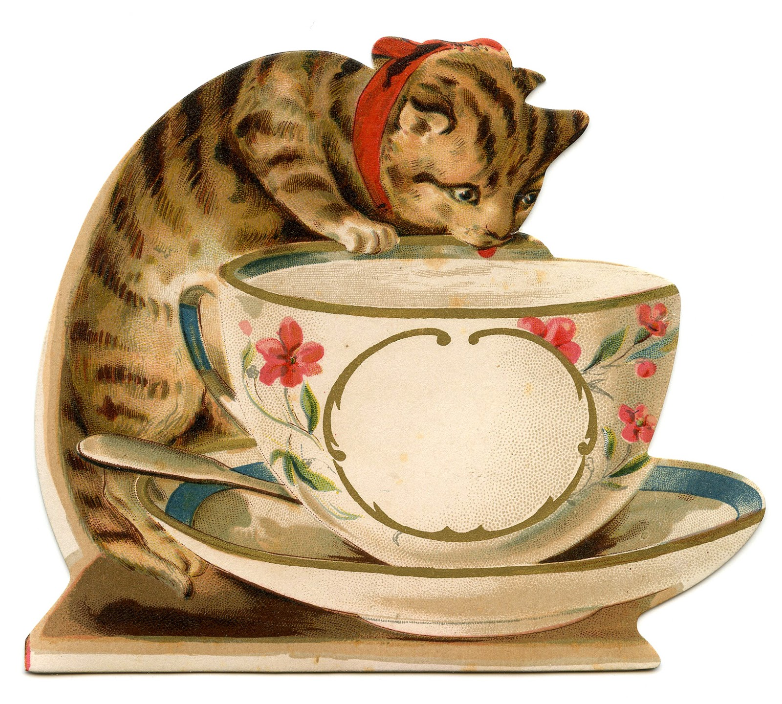 Teacup clipart kitty Vintage Image Tea The with
