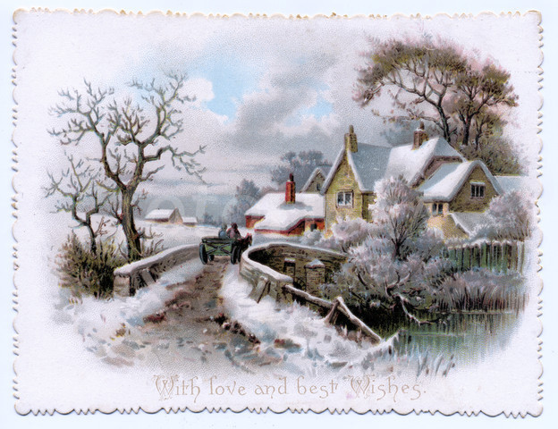 Victorian clipart christmas winter scene Google Art Pinterest Search christmas