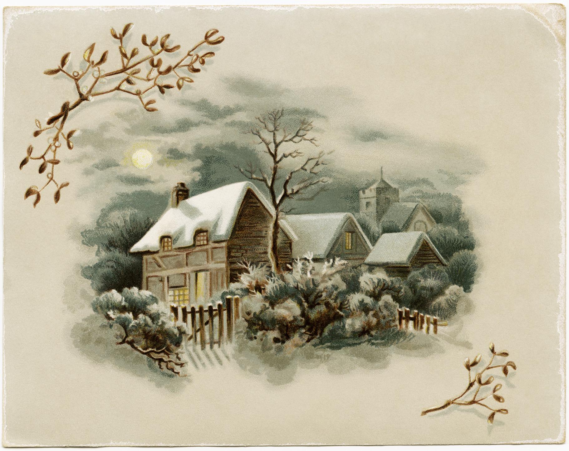 Victorian clipart christmas winter scene Jpg (1823×1446) Winter/Christmas winter more