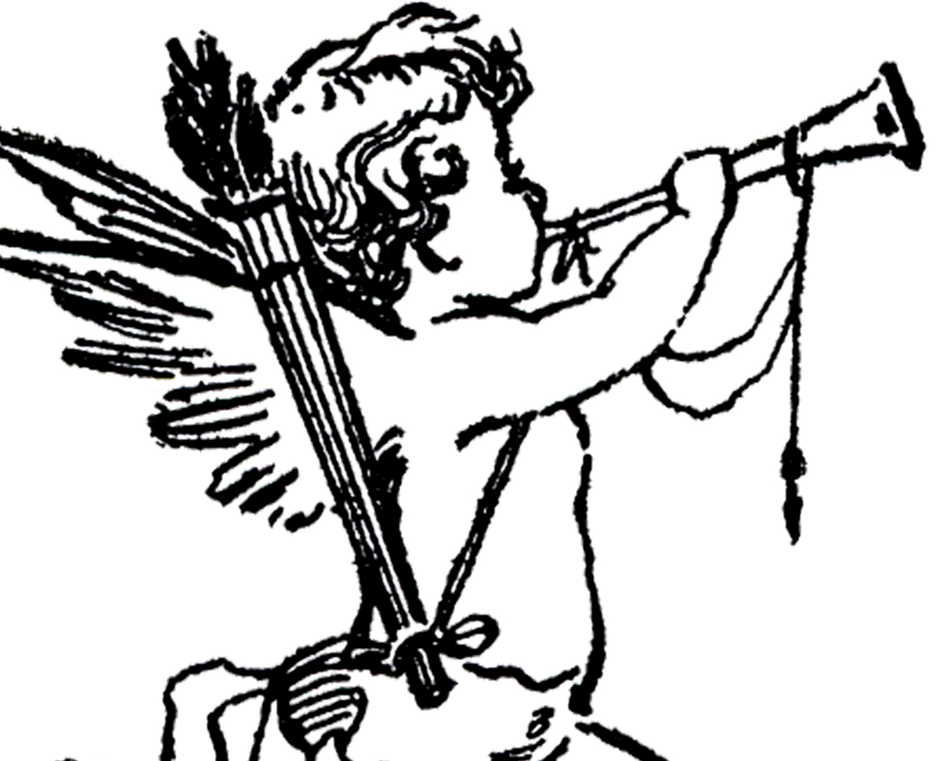 Cupid clipart antique Graphics Sketch! Cupid Fairy The